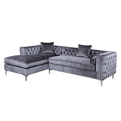 Da Vinci Sectional Upholstery: Gray, Orientation: Left Hand Facing