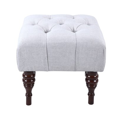 Bach Button Tufted Sculpted Leg Ottoman Upholstery Color: Smoke