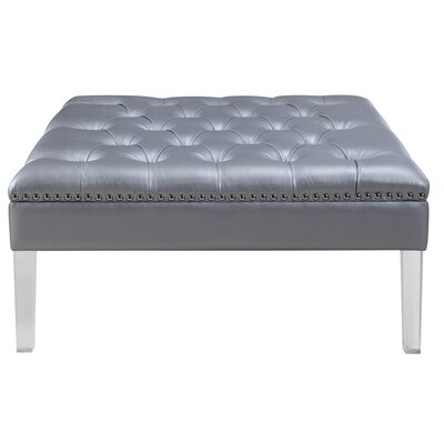 Twain Cocktail Ottoman Upholstery Color: Silver