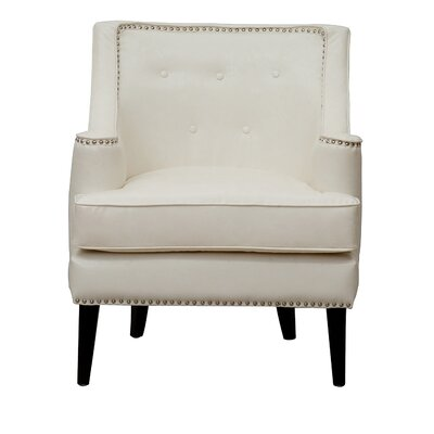 Grace Button Tufted Wing back Chair Upholstery: Beige