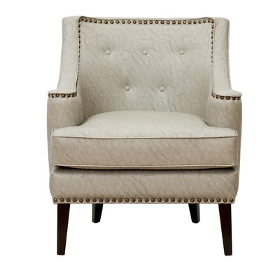 Grace Button Tufted Wing back Chair Upholstery: Gray