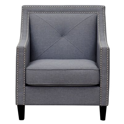 Kennedy Tufted Armchair Upholstery: Silver
