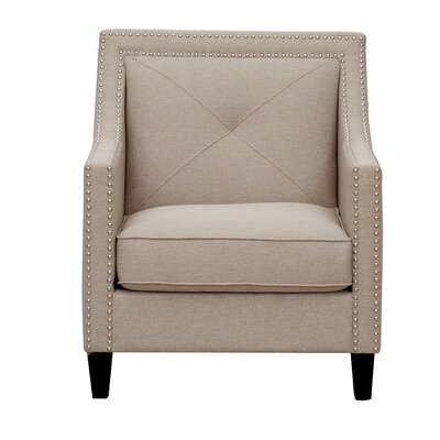 Kennedy Tufted Armchair Color: Stone