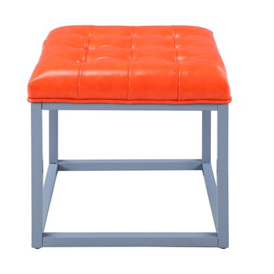 Newman Cocktail Ottoman Upholstery: Orange
