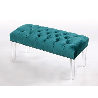 Macie Ottoman Color: Turquoise