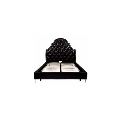 Napoleon Upholstered Panel Bed Size: King, Color: Black