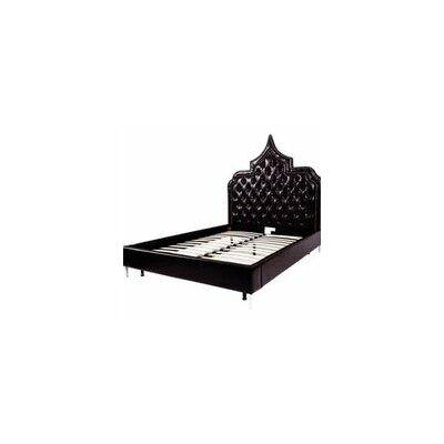 Casablanca Upholstered Panel Bed Size: King, Color: Black