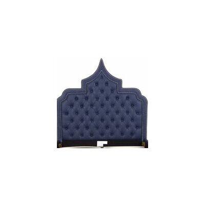 Casablanca Upholstered Panel Headboard Size: King, Color: Navy Blue