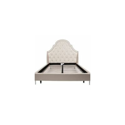 Napoleon Upholstered Panel Bed Color: Cream White, Size: Queen