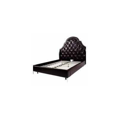 Napoleon Upholstered Panel Bed Color: Black, Size: Queen