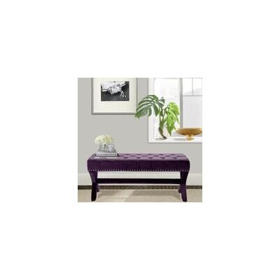 Iconic Home Neil Upholstered Bench BH12-14SB-N1-WR