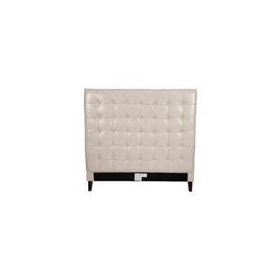 Beethoven Upholstered Panel Headboard Size: King, Color: Cream White