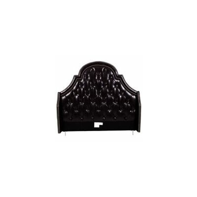 Napoleon Upholstered Wingback Headboard Size: King, Color: Black