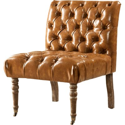 Hendrix Front Side Chair Upholstery: Camel