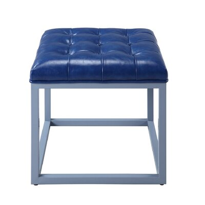 Newman Cocktail Ottoman Upholstery: Blue