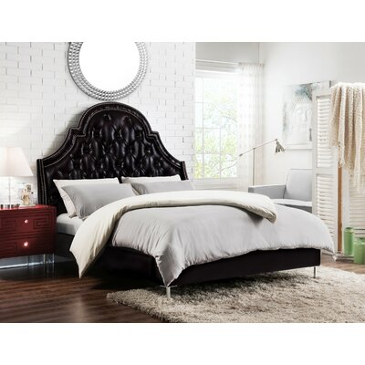 Napoleon Upholstered Panel Bed Size: Queen, Color: Black