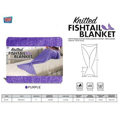 Vallejos Adult Mermaid Blanket Color: Purple
