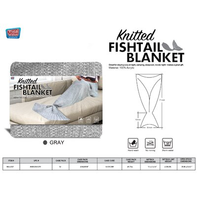 Vallejos Adult Mermaid Blanket Color: Gray