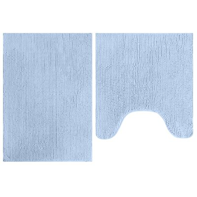 2 Piece Popcorn Bath Mat Set Color: Sky Blue