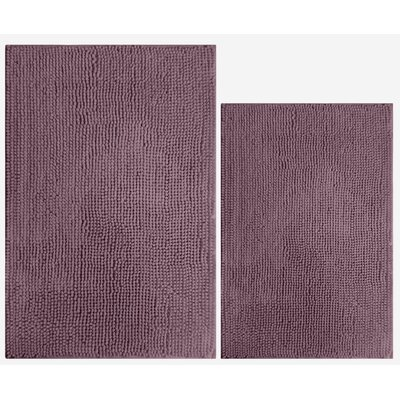 Speirs 2 Piece Popcorn Bath Mat Color: Muted Plum