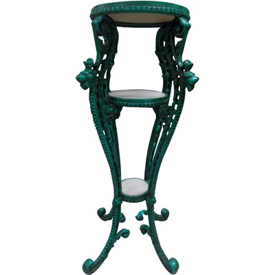 Josh End Table Base Color: Green
