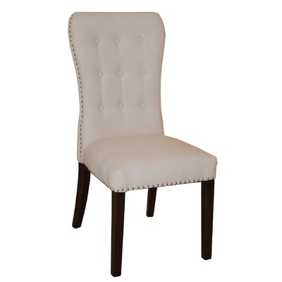 Aaron Upholstered Dining Chair Upholstery: Beige
