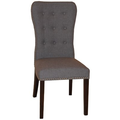 Aaron Side Chair Upholstery: Gray