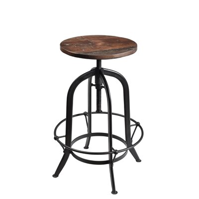 Minerva Adjustable Height Swivel Bar Stool