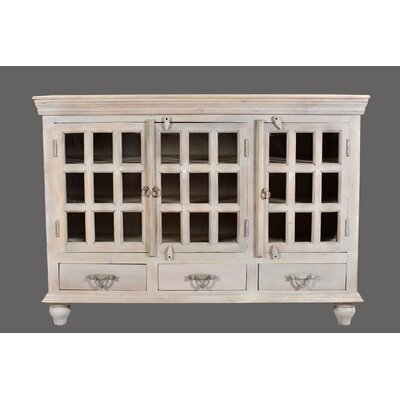 Brea 3 Drawer 3 Door Glass Sideboard