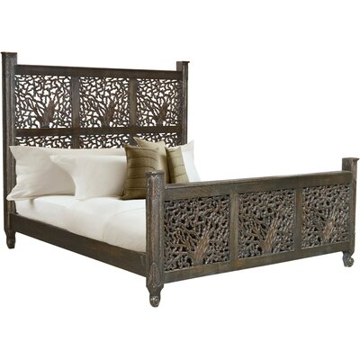 Halina Carved Eastern King Platform Bed