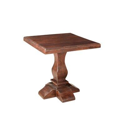 Maliyah Pedestal End Table Finish: Brown
