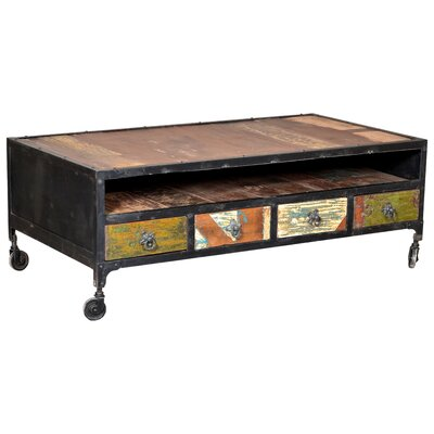 Desirae 4 Drawer Coffee Table with Storage