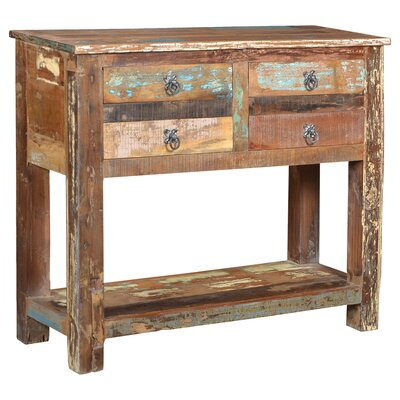 Desirae 4 Drawer Console Table with Storage BLMK1405 43527487