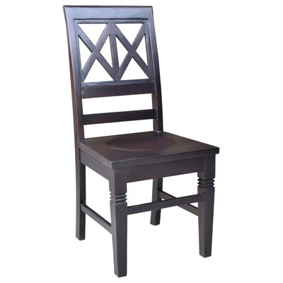 Barbay Double Cross Solid Wood Dining Chair