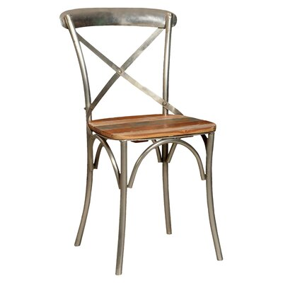 Minerva Cross Back Solid Wood Dining Chair