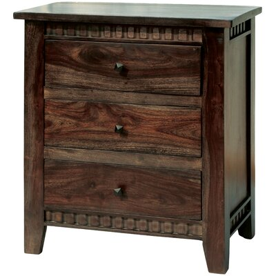 Parkey 3 Drawer Nightstand