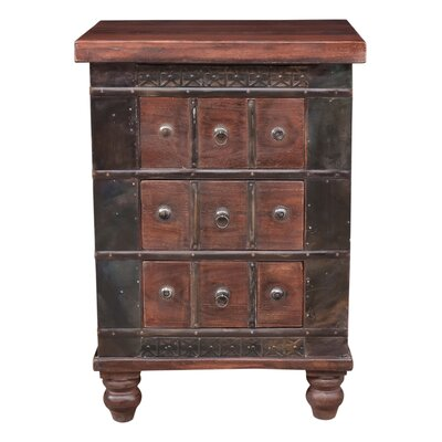 Timeless 3 Drawer Nightstand Finish: Brown