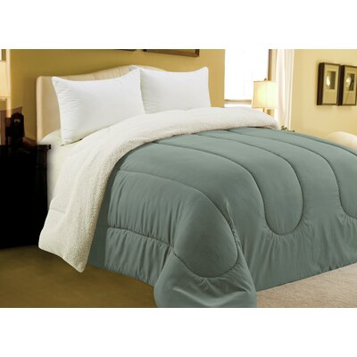 Sherpa Comforter Color: Grey, Size: Full/Queen