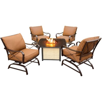 Eva 5 Piece Oil Rubbed Bronze Deep Seating Group with Cushion
