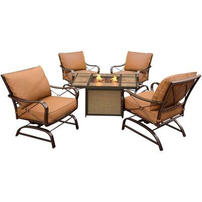 Eva 5 Piece Metal Deep Seating Group with Cushion