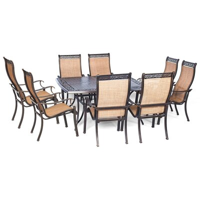 Barras 9 Piece Contemporary Dining Set