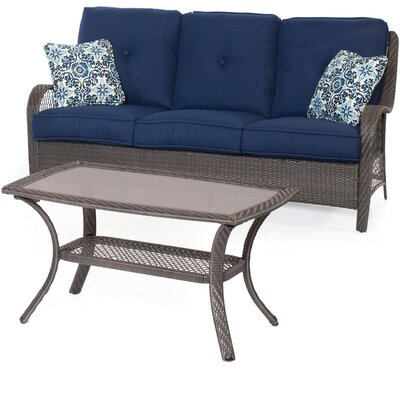 Nunda 2 Piece Deep Seating Group with Cushion
