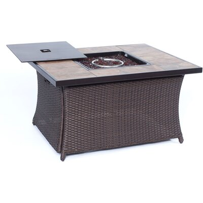 Resin Propane Fire Pit Table WOVENFP1PC-TILE