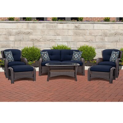 Barrand 6 Piece Deep Seating Group with Cushion