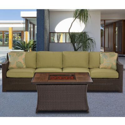 Haven 3 Piece Deep Seating Group with Cushion