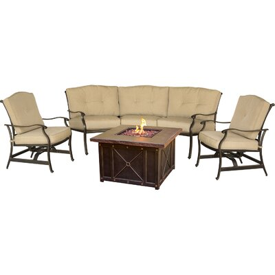 Concord 4 Piece Deep Seating Group with Cushion
