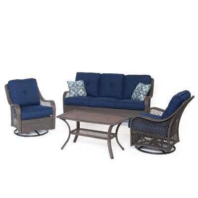 Nunda 4 Piece Deep Seating Group with Cushion