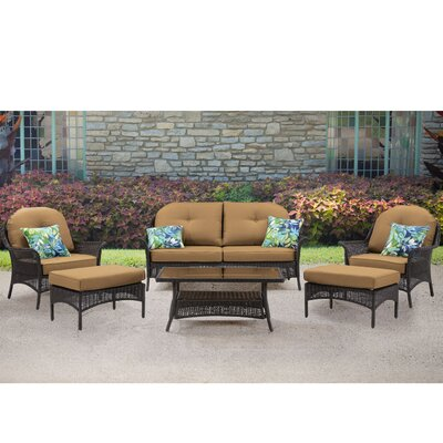 Annika 6 Piece Deep Seating Group with Cushion