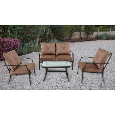 Crawford 4 Piece Deep Seating Group with Cushion