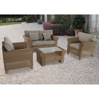 Barrow 4 Piece Deep Seating Group with Cushions